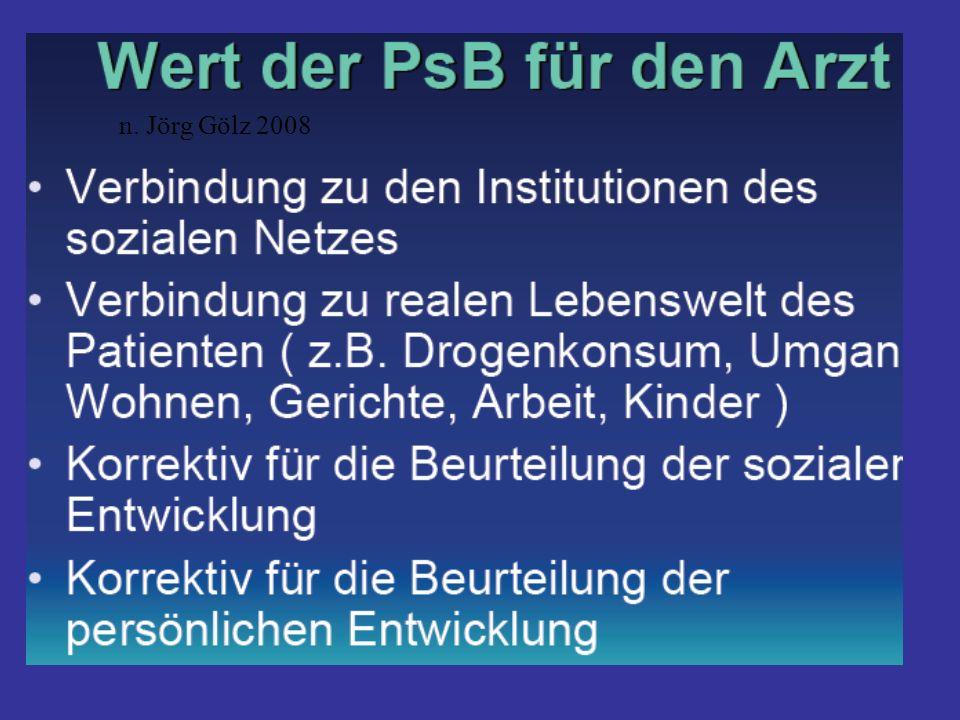 n. Jörg Gölz 2008 'Wir haben keinen Bedarf an psychosozialer Begleitung', - substituierender Arzt aus dem Landkreis Garmisch-Patenkirchen.