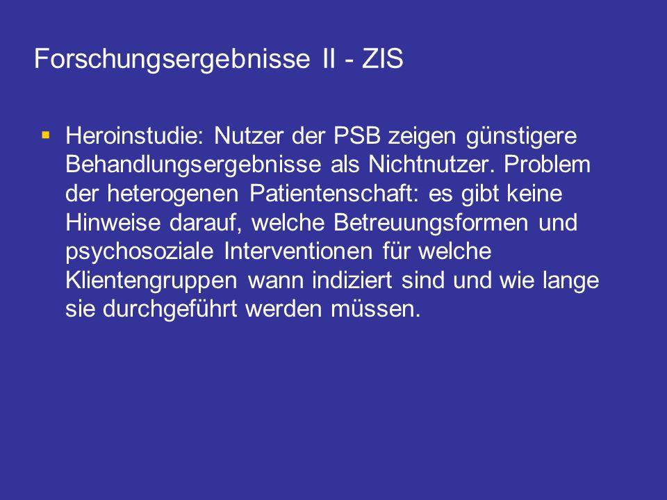 Forschungsergebnisse II - ZIS