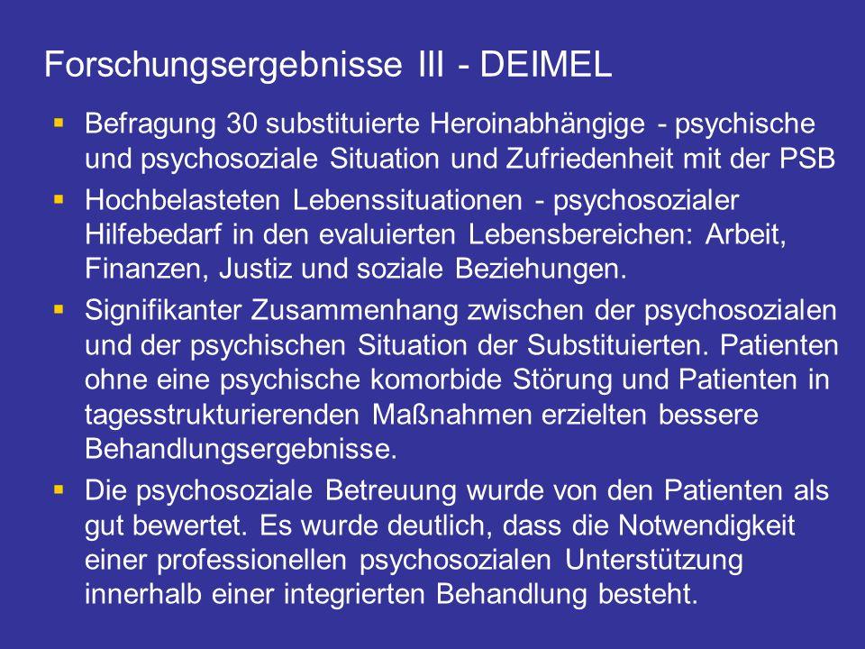 Forschungsergebnisse III - DEIMEL