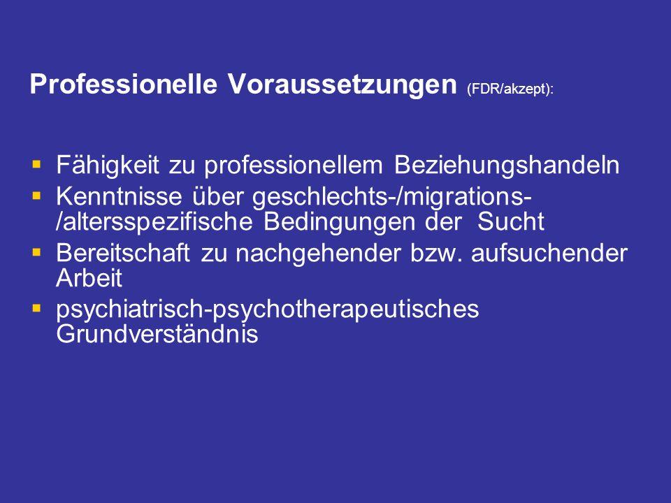 Professionelle Voraussetzungen (FDR/akzept):