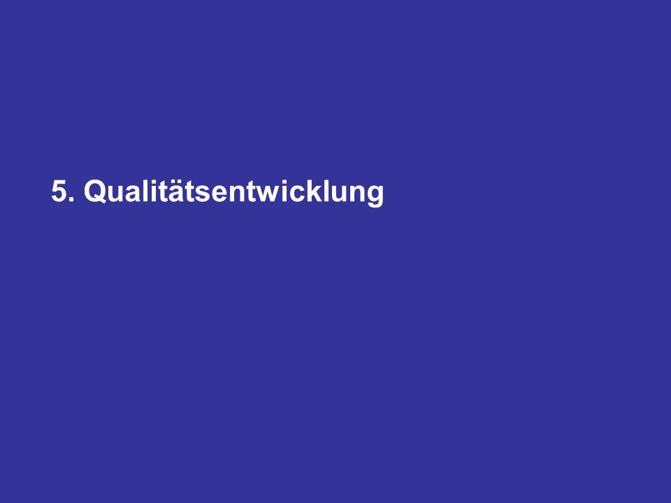 5. Qualitätsentwicklung