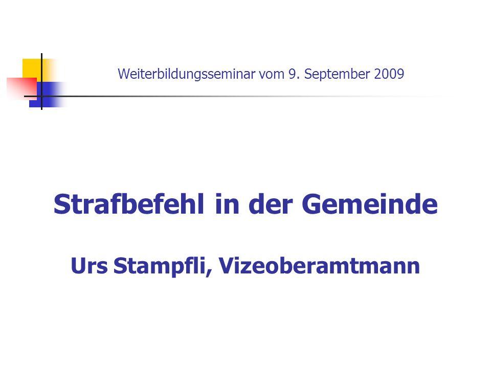 Weiterbildungsseminar vom 9. September 2009