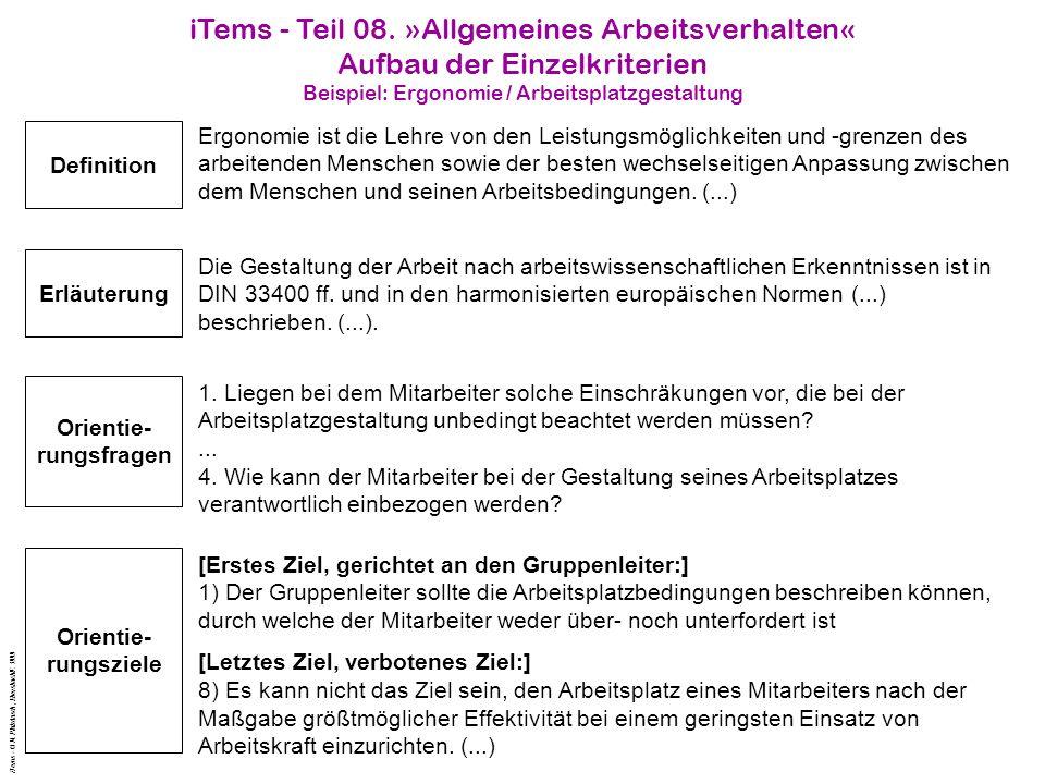 iTems - Teil 08. »Allgemeines Arbeitsverhalten«