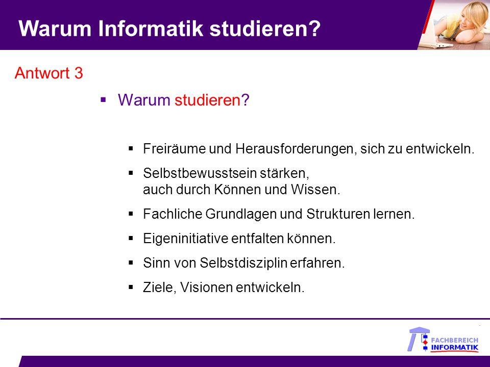 Warum Informatik studieren