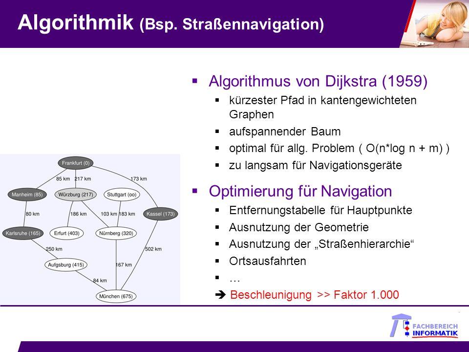 Algorithmik (Bsp. Straßennavigation)
