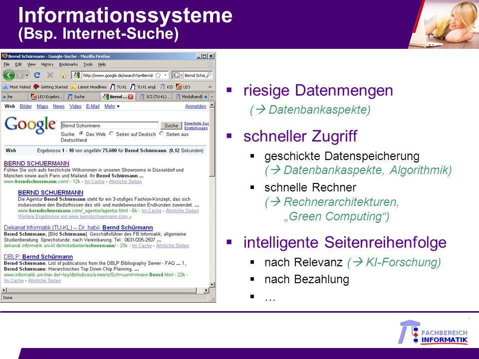 Informationssysteme (Bsp. Internet-Suche)