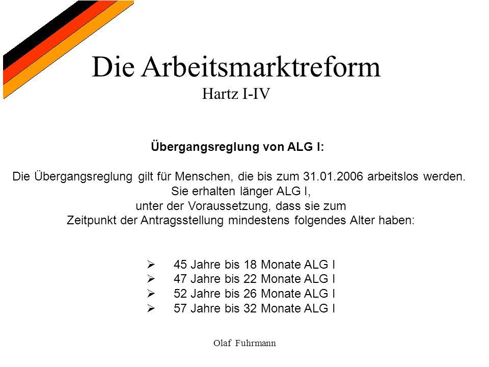 Übergangsreglung von ALG I: