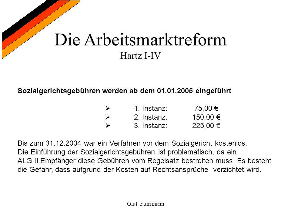 Sozialgerichtsgebühren werden ab dem 01.01.2005 eingeführt