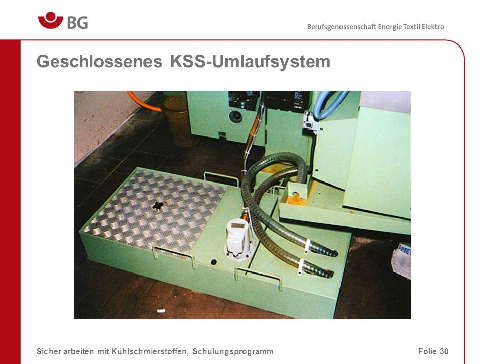Geschlossenes KSS-Umlaufsystem