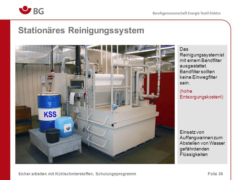 Stationäres Reinigungssystem