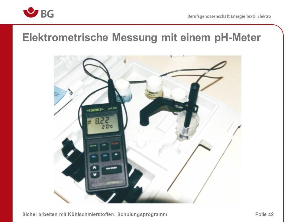 Elektrometrische Messung mit einem pH-Meter