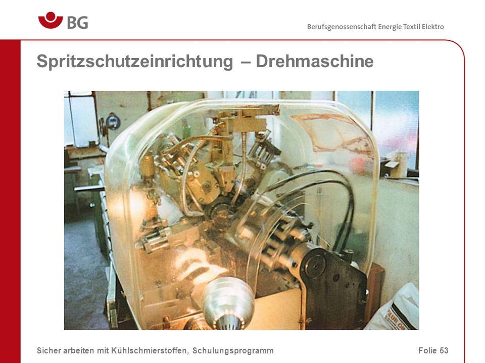 Spritzschutzeinrichtung – Drehmaschine