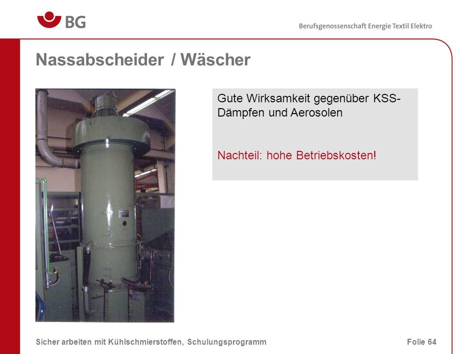 Nassabscheider / Wäscher