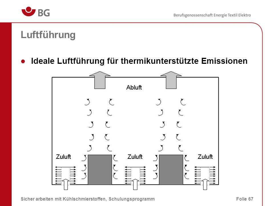 Luftführung Ideale Luftführung für thermikunterstützte Emissionen