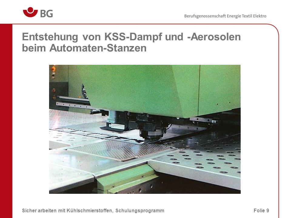 Entstehung von KSS-Dampf und -Aerosolen beim Automaten-Stanzen