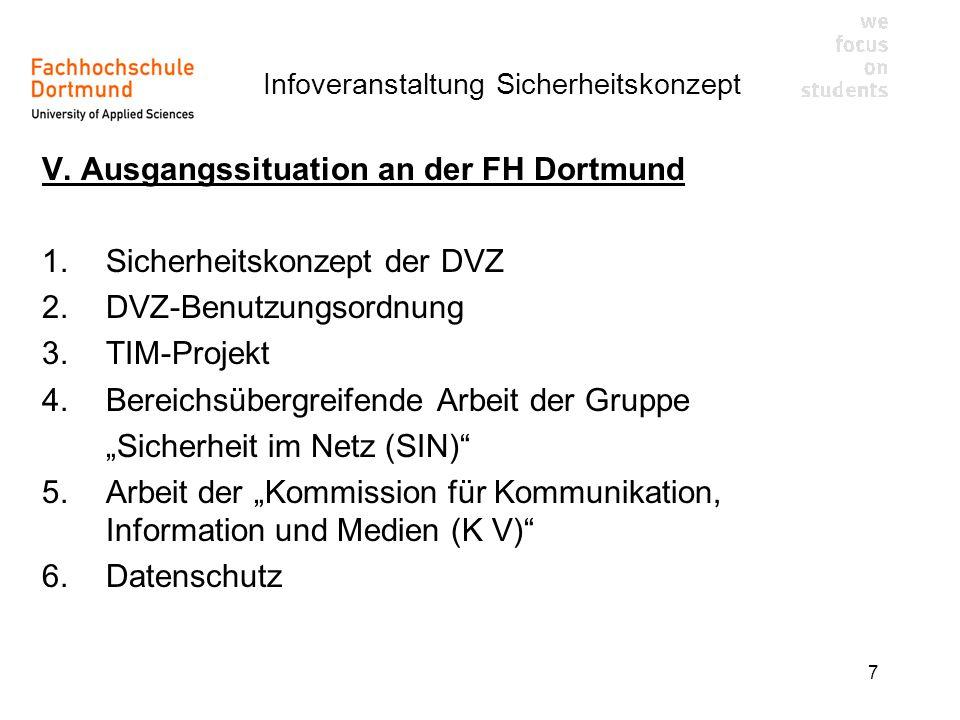 V. Ausgangssituation an der FH Dortmund