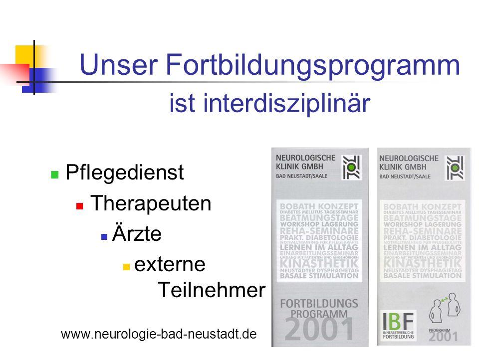Unser Fortbildungsprogramm ist interdisziplinär