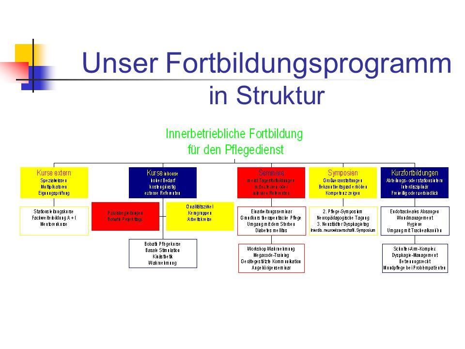 Unser Fortbildungsprogramm in Struktur