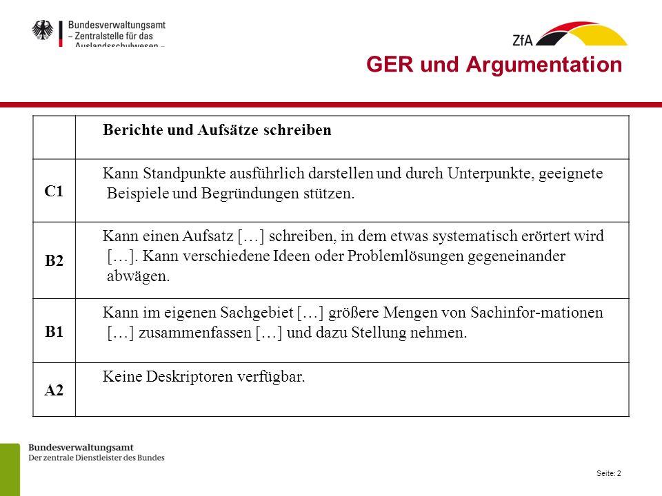 GER und Argumentation Berichte und Aufsätze schreiben C1