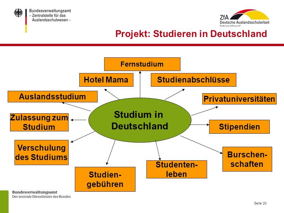 Projekt: Studieren in Deutschland