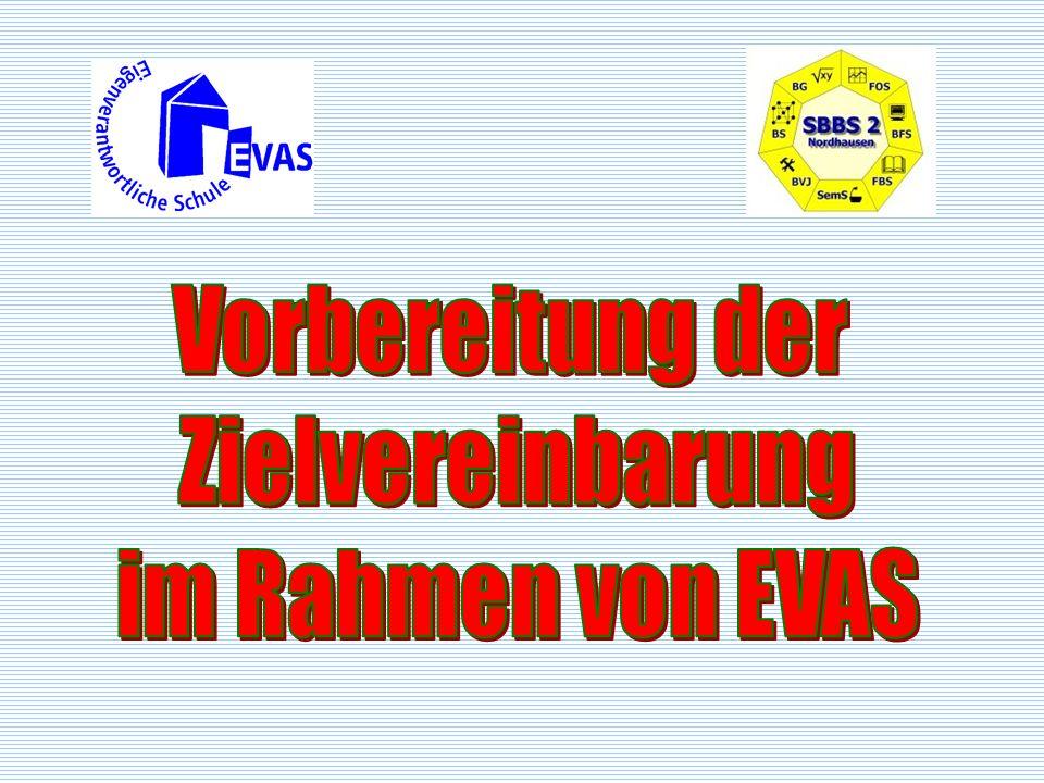 Vorbereitung der Zielvereinbarung im Rahmen von EVAS