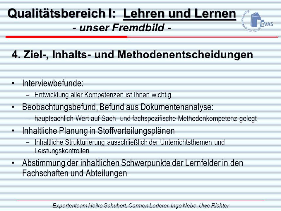 Qualitätsbereich I: Lehren und Lernen
