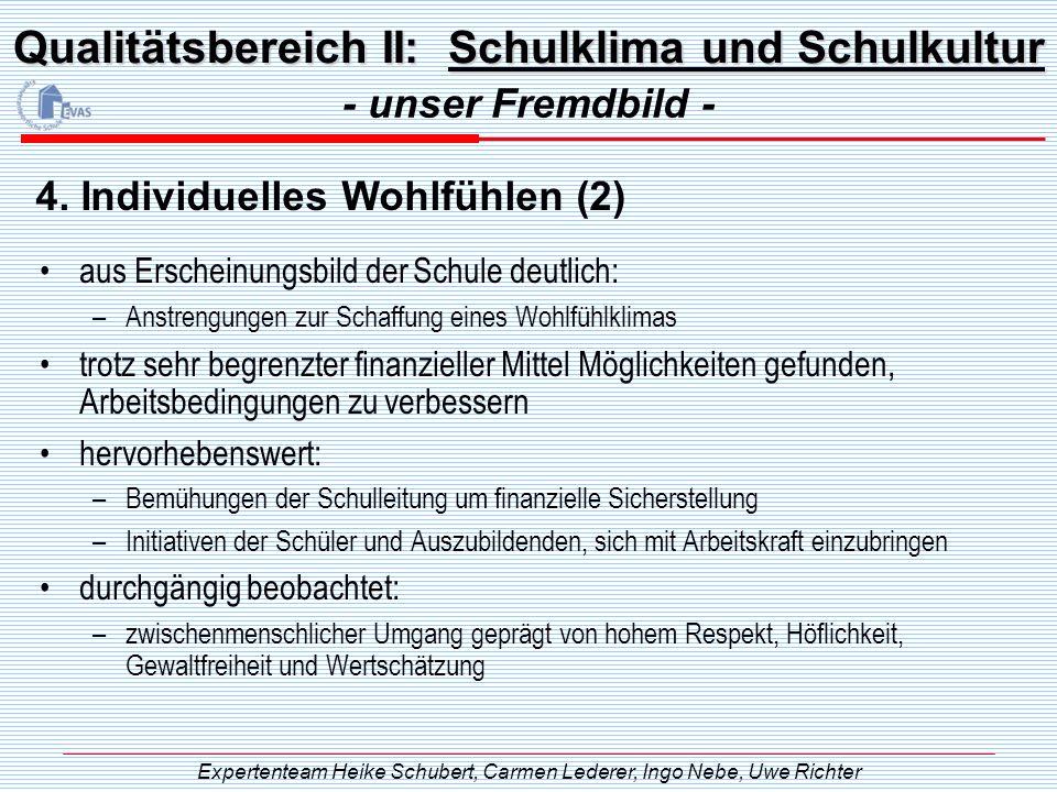 Qualitätsbereich II: Schulklima und Schulkultur