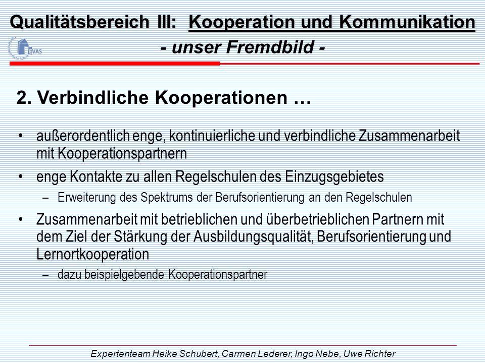 Qualitätsbereich III: Kooperation und Kommunikation