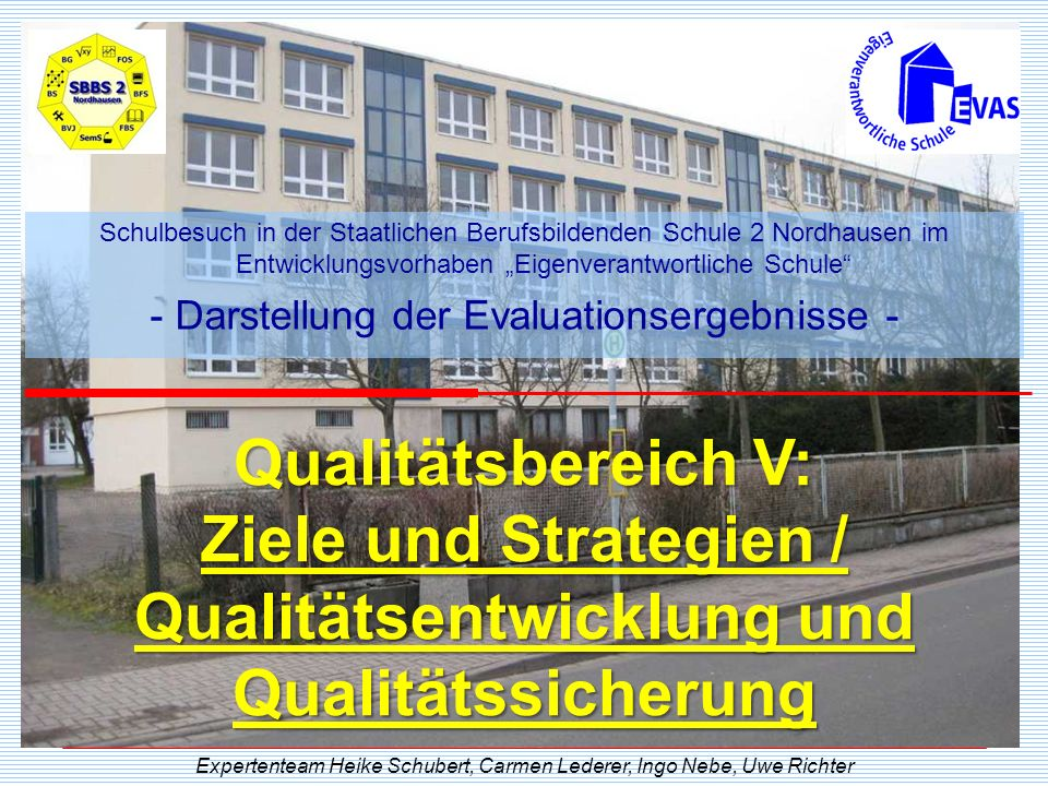 """Schulbesuch in der Staatlichen Berufsbildenden Schule 2 Nordhausen im Entwicklungsvorhaben """"Eigenverantwortliche Schule"""