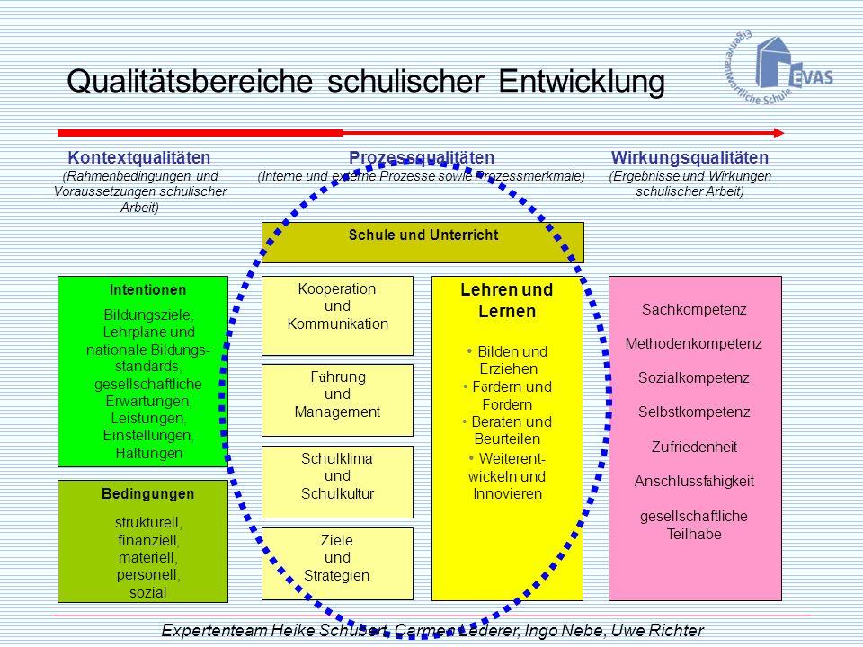 Qualitätsbereiche schulischer Entwicklung