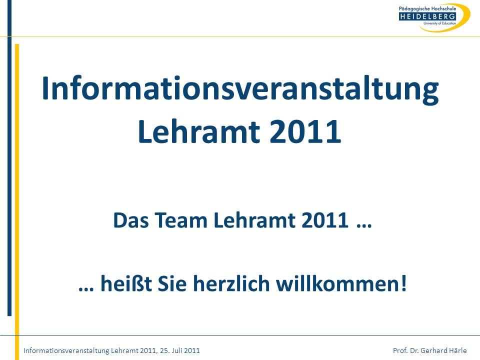 Informationsveranstaltung Lehramt 2011