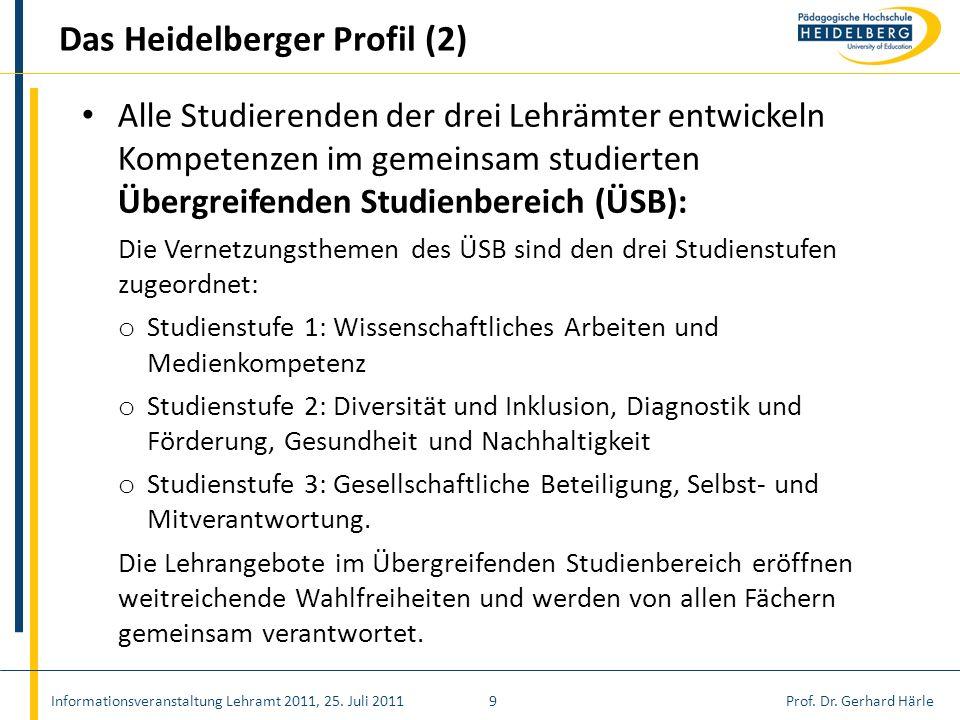 Das Heidelberger Profil (2)