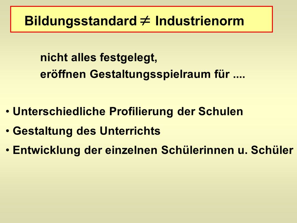 Bildungsstandard  Industrienorm