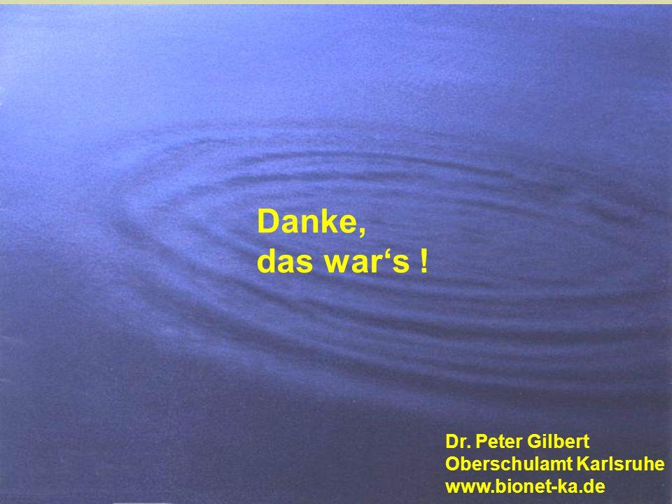 Danke, das war's ! Dr. Peter Gilbert Oberschulamt Karlsruhe