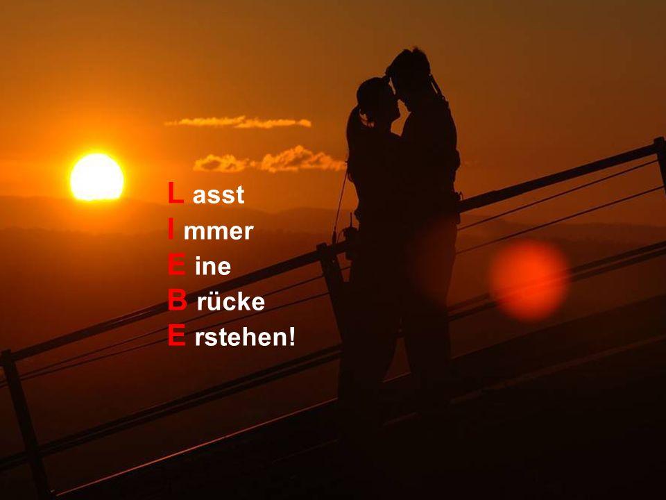 L asst I mmer E ine B rücke E rstehen!