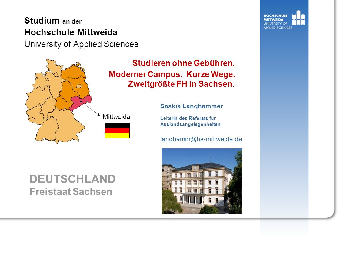 Studium an der Hochschule Mittweida University of Applied Sciences