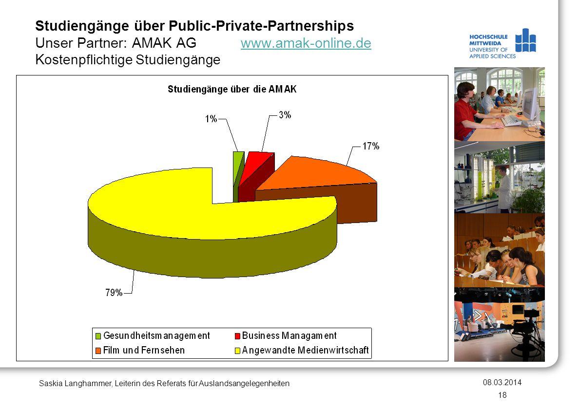 Studiengänge über Public-Private-Partnerships Unser Partner: AMAK AG www.amak-online.de Kostenpflichtige Studiengänge