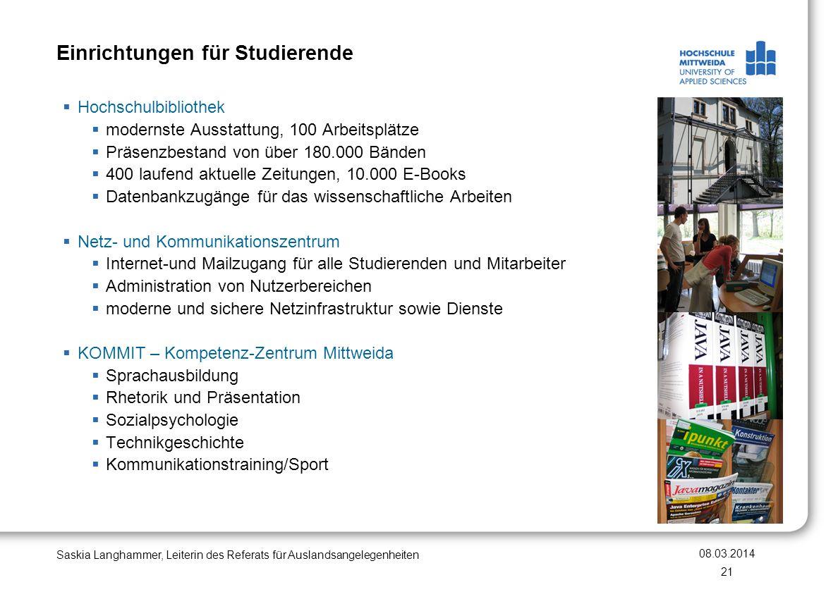 Einrichtungen für Studierende