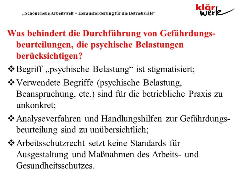 """""""Schöne neue Arbeitswelt – Herausforderung für die Betriebsräte"""
