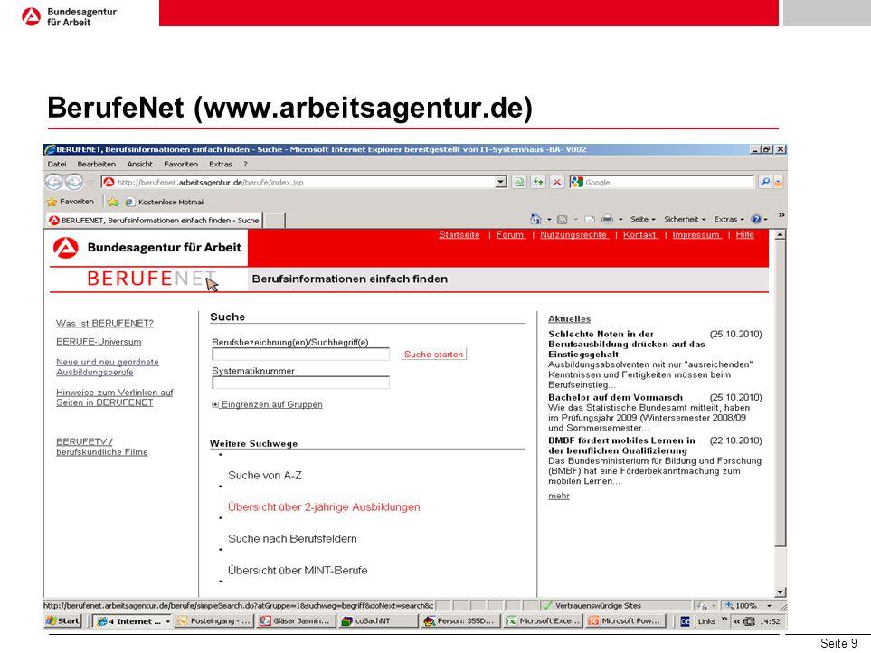 BerufeNet (www.arbeitsagentur.de)