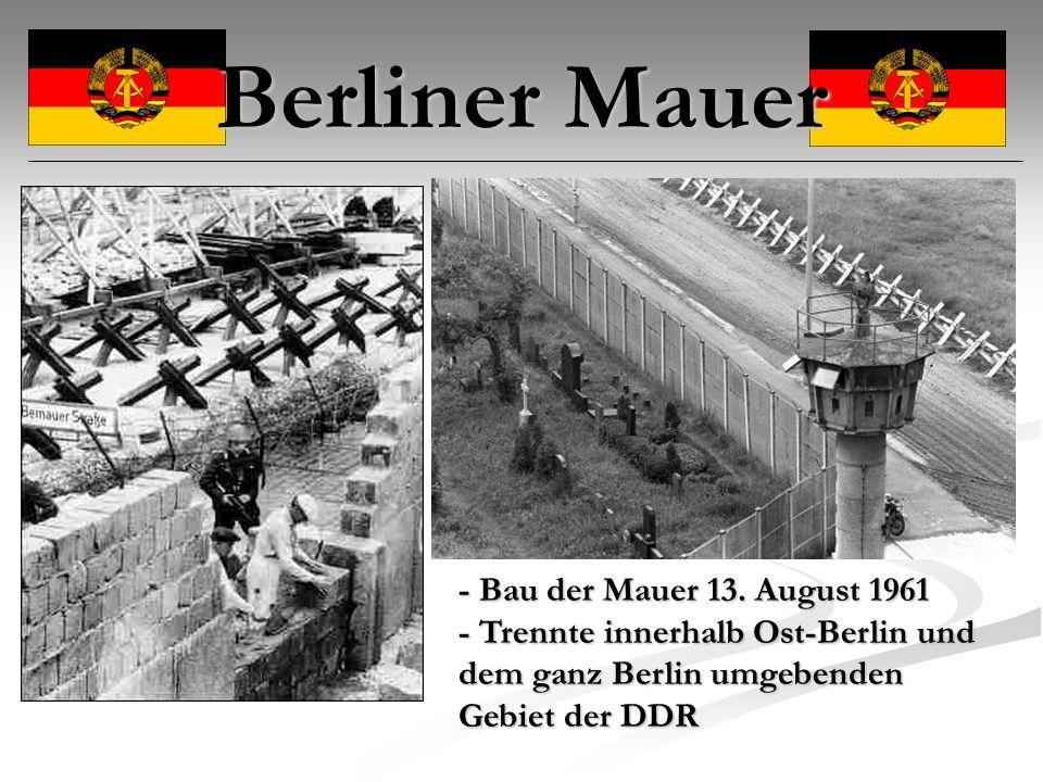 Berliner Mauer - Bau der Mauer 13. August 1961