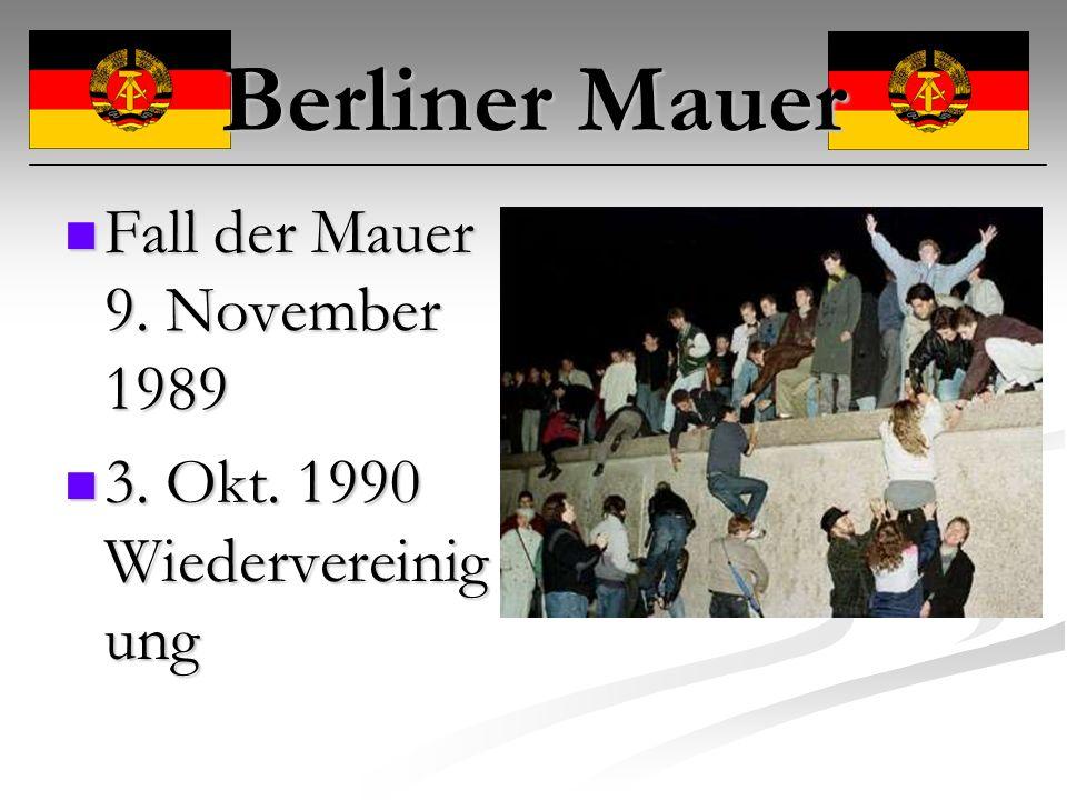Berliner Mauer Fall der Mauer 9. November 1989