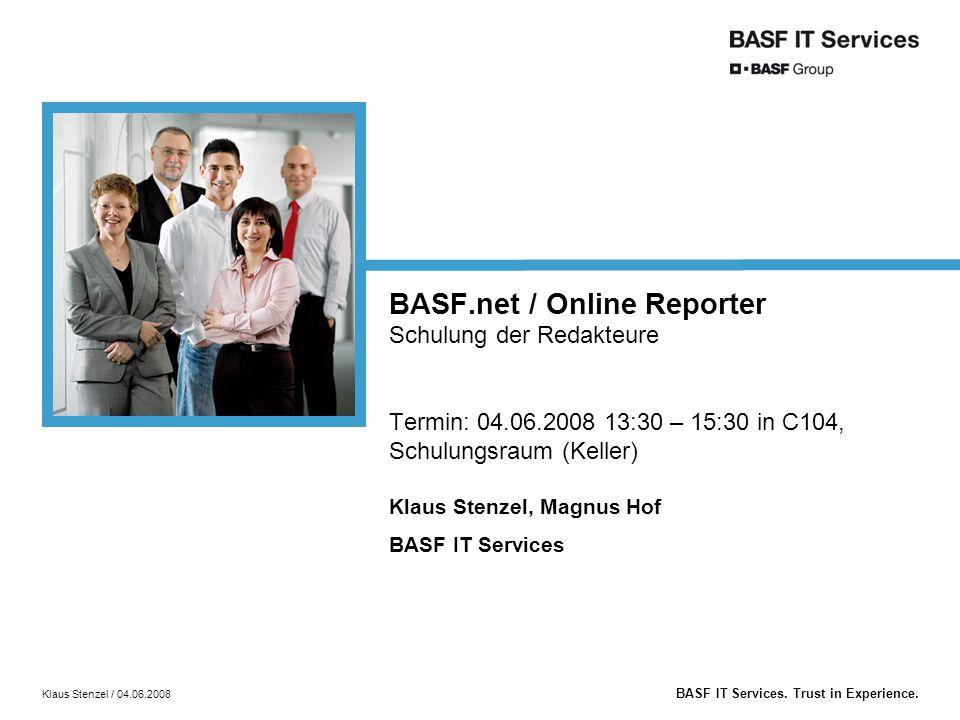 BASF.net / Online Reporter