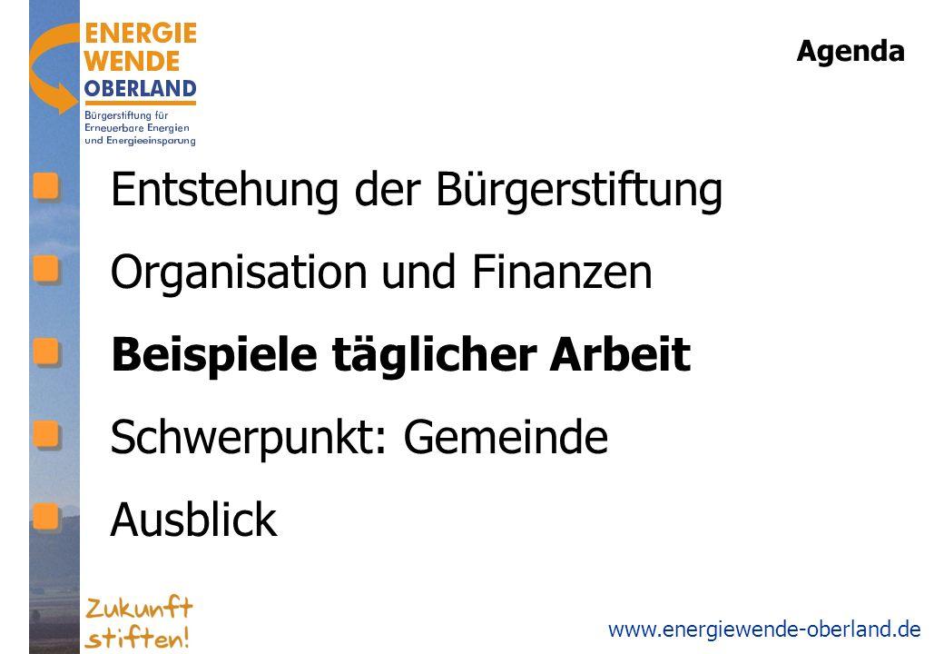 Entstehung der Bürgerstiftung Organisation und Finanzen
