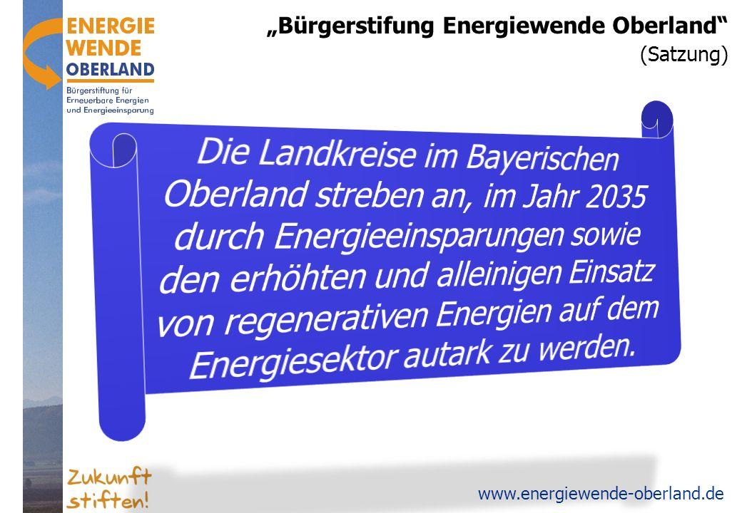 """Bürgerstifung Energiewende Oberland"