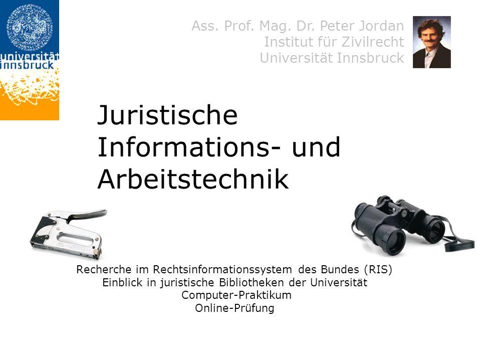 Juristische Informations- und Arbeitstechnik
