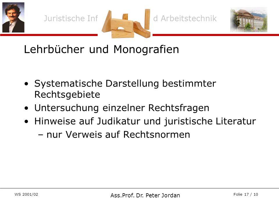 Lehrbücher und Monografien