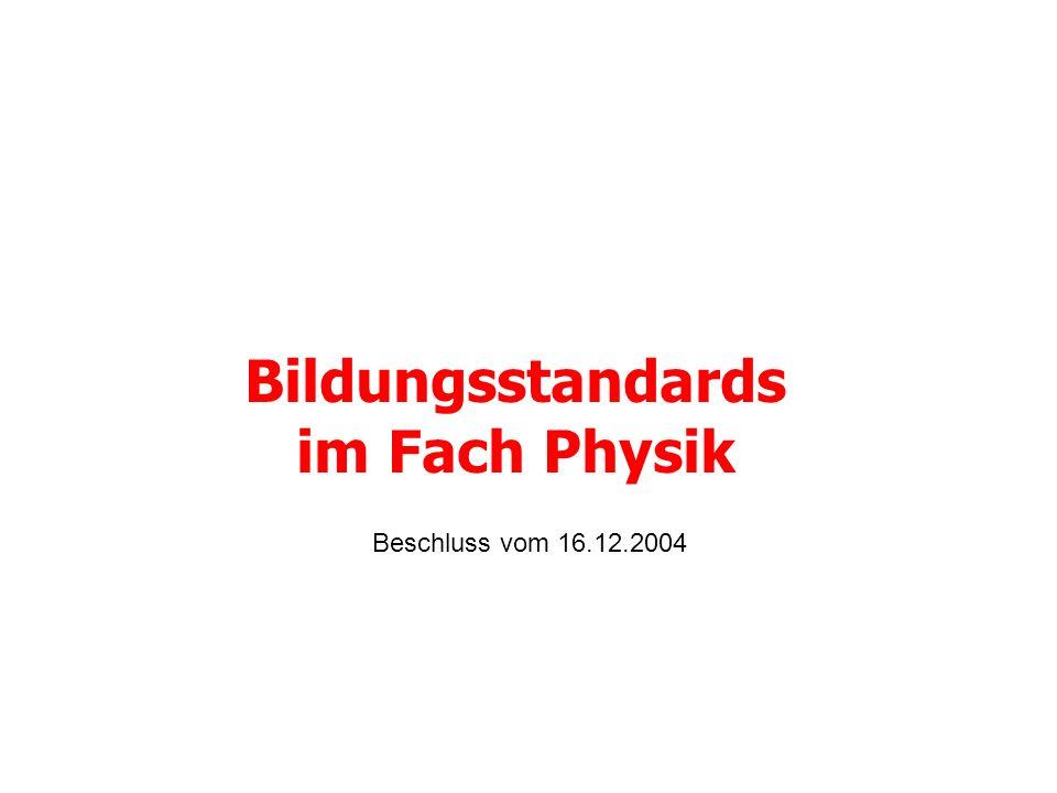 Bildungsstandards im Fach Physik