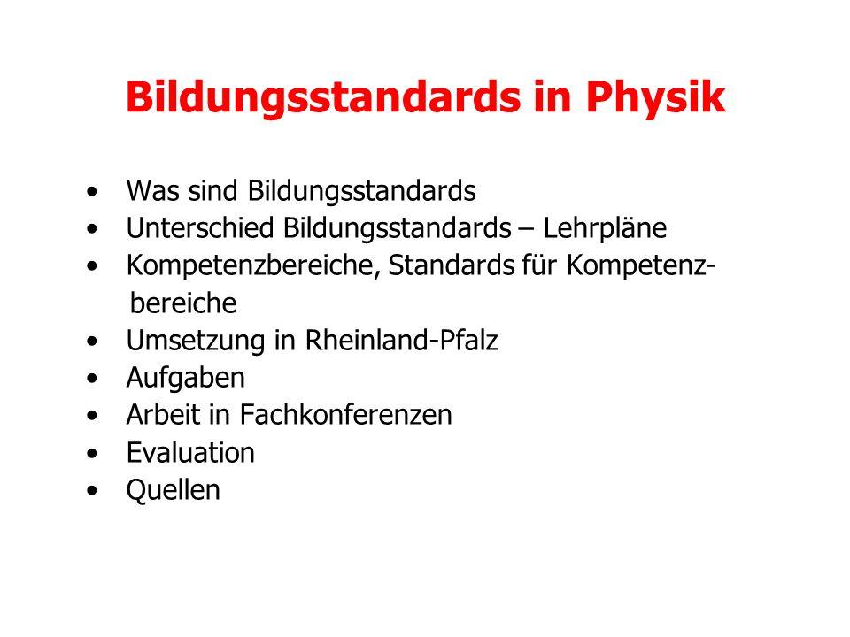 Bildungsstandards in Physik