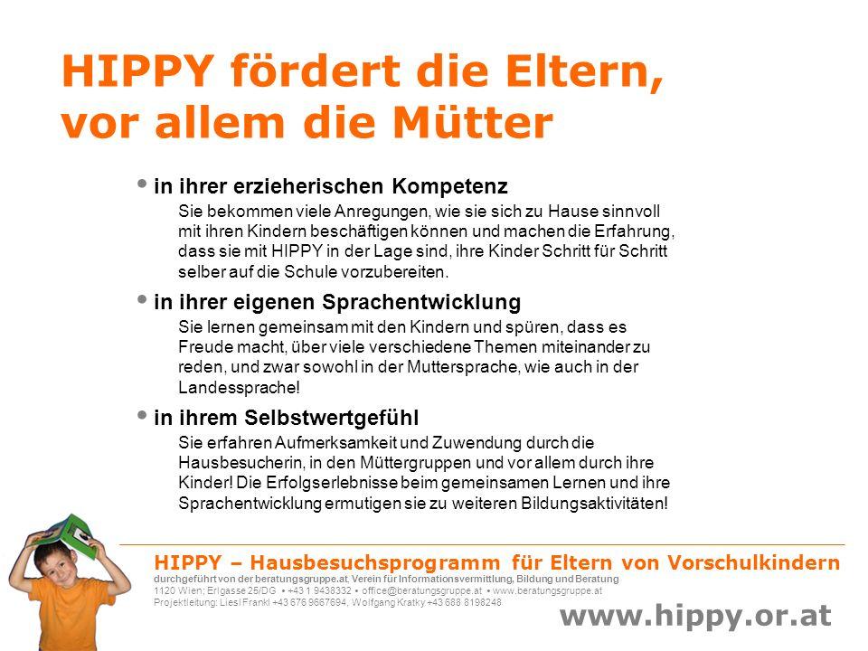 HIPPY fördert die Eltern, vor allem die Mütter